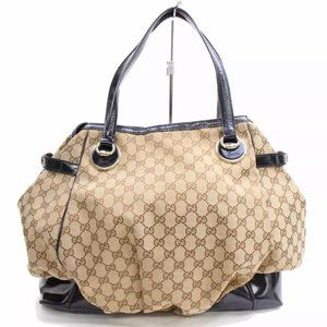 GUCCI Monogram Canvas Full Moon Large Tote